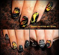 take two nail art challenge hunger games mani with china glaze 54