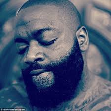 Rick Ross Bra Meme - rick ross unveils new rich forever chin tattoo in instagram snap