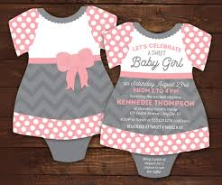 little lady baby shower invitations bodysuit invitations