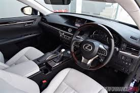 lexus sport car interior 2016 lexus es 350 sports luxury review video performancedrive