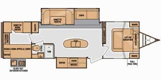 Floor Plan Finder Full Specs For 2014 Cruiser Rv Fun Finder F 299kiqb Rvs Rvusa Com