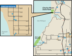 Michigan Dnr Burn Permit Map by Charles Mears State Parkmaps U0026 Area Guide Shoreline Visitors Guide