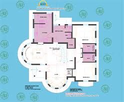 2761 square feet semi circular shaped kerala home design with plan