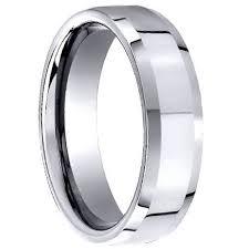 men wedding ring mens cobalt wedding ring beveled edge polished