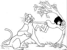 beautiful disney jungle book coloring pages photos