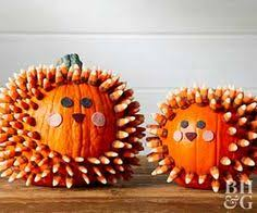 How To Make Halloween Pumpkins Last Longer - make these adorable candy coated hedgehog pumpkins hedgehogs