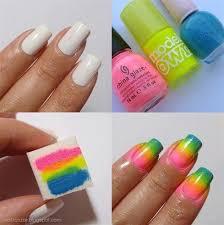 d i y ombre nails rainbow nail art ombre and ombre nail art
