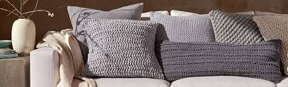 Linen Feather Throw Pillow Contemporary Decorative Pillows