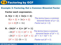 Factoring Expressions Worksheet Objective Factor Polynomials By The Greatest Common Factor