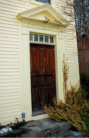 Exterior Door Pediment And Pilasters T D Associates