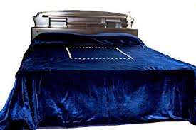 amazon com amore beaute handmade luxury navy blue bed cover with