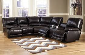 Living Room Design With Black Leather Sofa by Decorating Interesting Ashley Furniture Sectional For Modern