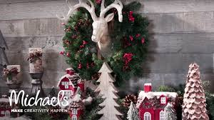 pinecone lodge holiday mantel michaels youtube