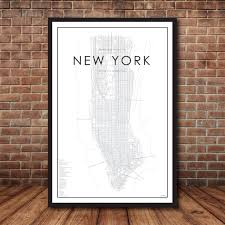 New York City Map Of Manhattan by New York City Map Map Of Manhattan New York Print Map