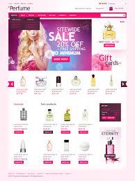 website template 33531 perfume store online custom website