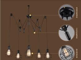 pulley pendant light fixtures online shop loft edison pulley pendant light with 5 lights fixtures