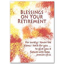 retirement card blessings on your retirement feminine retirement card