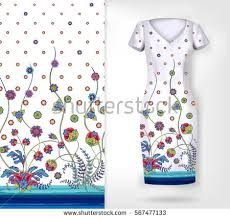 dress with colored ornaments stock images royalty free images