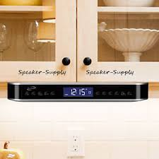 under cabinet kitchen radios ilive wireless bluetooth under cabinet kitchen music system fm radio
