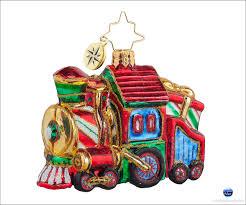 christopher radko sweet chuggin along gem christmas ornament