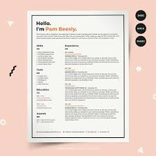 Resume Templates Design 1074 Best Design Resumes Images On Pinterest Design Resume