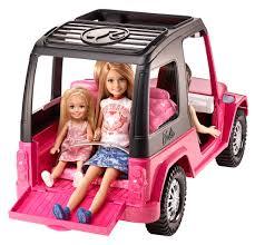 blue barbie jeep barbie sisters u0027 cruiser walmart com