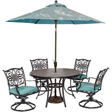 hanover traditions 5 piece outdoor round patio dining set 4