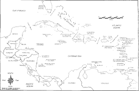 Black And White Map Of Central America by The Courier N 132 March April 1992 Dossier The Future Of The