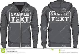 men u0027s hoodie shirts front and back views stock vector image