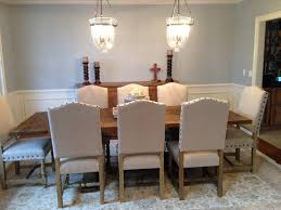 chic dining table decoration with glass pendant lamps for luxury
