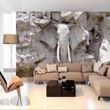 Elephant Decor For Living Room by Photo Wallpaper Wall Murals Non Woven 3d Modern Art Optical