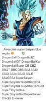 awesome super saiyan blue vegito