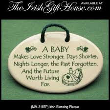 blessing baby baby blessing plaque with shamrocks