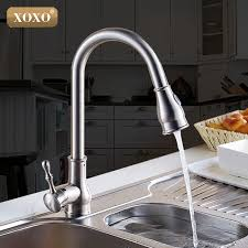 high arch kitchen faucet xoxo kitchen faucet brass brushed nickel high arch kitchen sink