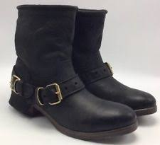 s ugg australia gershwin boots ugg australia leather motorcycle medium b m s shoes ebay