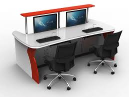conference table with recessed monitors ultra modern state of art and human centric control room