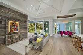 garage living home office vaulted ceiling living room and kitchen fence garage