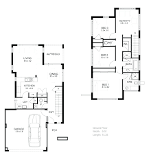 narrow two story house plans google searchtwo apartment floor