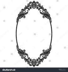 oval vintage frame oval mirror oval stock vector 421936378