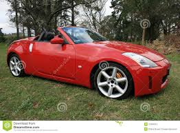 red nissan sports car red sports car stock image image of convertible cool 15364815