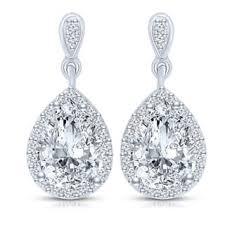 cubic zirconia drop earrings dangling cubic zirconia earrings for less overstock
