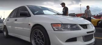 evolution mitsubishi 8 rwd 9 second mitsubishi evo 8 is not your average drag racer