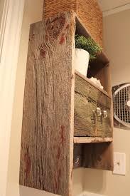 Red Bathroom Cabinets Barnwood Bathroom Cabinet Hometalk