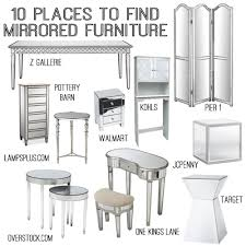 Bedroom One Furniture 10 Sources For Mirrored Furniture Diy Home Decor Pinterest