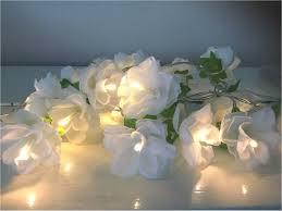 Rose Lights String by White Rose Fairy Lights Shabby Chic Fairy Lights Flower