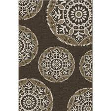 Coastal Indoor Outdoor Rugs Hton Bay Coastal Medallion Brown 7 Ft 5 In X 10 Ft 8 In