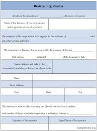 Registration Form Template Excel Business Registration Form Sle Business Registration Form