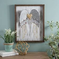 we u0027ve loving the u0027golden heart with angel wall plaque u0027 from