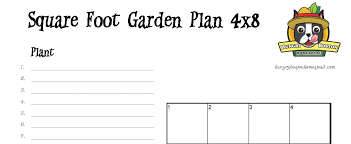 free square foot garden planner hungry boston homestead