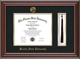 graduation frames with tassel holder florida state diploma frames with custom fsu embossing